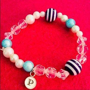 """Jewelry - """" P"""" initial charm bracelet"""